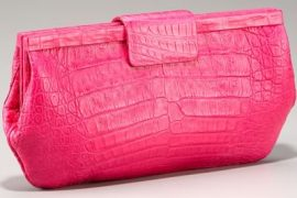 Show a Pop of Pink with this Nancy Gonzalez Clutch