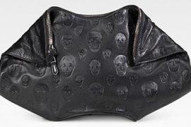 Alexander McQueen Demanta Leather Skull Clutch