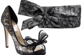 Valentino Lace Clutch and Shoes are Perfectly Romantic