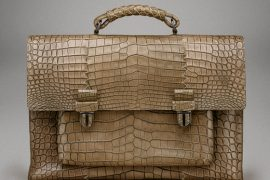 The most beautiful briefcase ever? This Bottega Veneta just might be it.