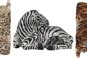 If just the print isn't enough, Judith Leiber lets you carry the entire animal