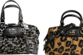 Coach does animal print at two very different price points