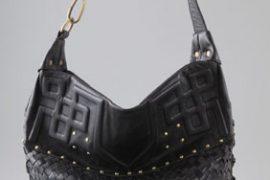 Details enliven Cleobella's black shoulder bag