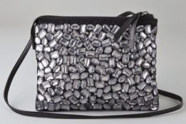 Cynthia Vincent goes for silly sparkle in a mini crossbody