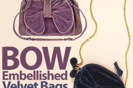 Look for Less: Bow Embellished Velvet Bag