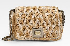 Dolce & Gabbana does rustic raffia in a ladylike way