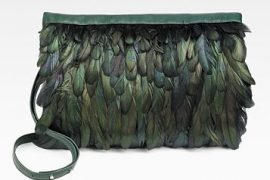 Maison Martin Margiela has flown the coop with green feathers