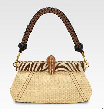 prada woven straw shoulder bag