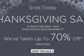 Saks Thanksgiving Sale