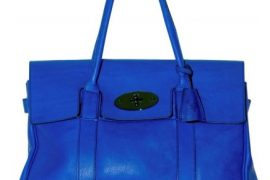I can't resist Mulberry's blue Bayswater