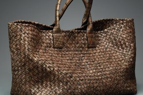 Weekend Obsession: Bottega Veneta Cigar Cocco Lave Large Cabat