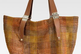 Jimmy Choo makes a leather tote for women who refuse to overspend on straw