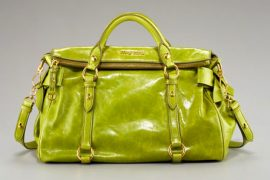 Miu Miu shall not be left out of this whole lime green thing
