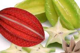 What bag closely resembles star fruit?