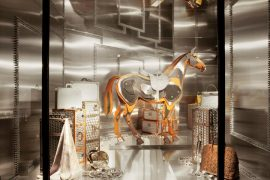 Check out the latest Hermes window display, straight from Paris