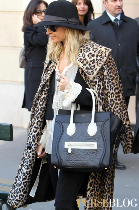 celine luggage tote green - Who's that girl with her Celine Luggage Tote? - PurseBlog