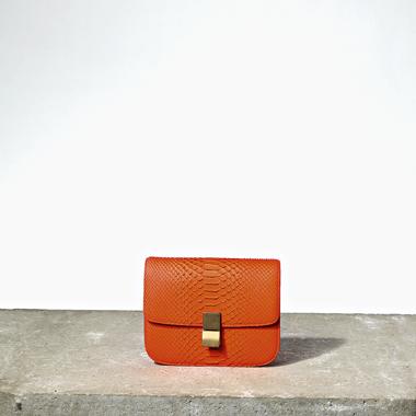 celine orange clutch bag