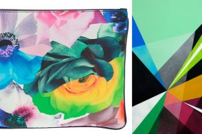 Jil Sander Floral Print Envelope Clutch + MWM Graphics