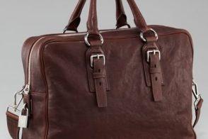 Man Bag Monday: Prada Leather Shoulder Bag