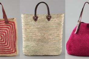 Celebrate Memorial Day with a beachy straw tote