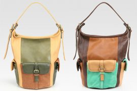 Chloe's bucket bag is a study in colorblocking gone wrong