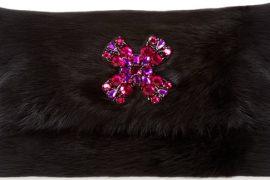 Want it Wednesday: Oscar de la Renta Dyed Rabbit Fur Clutch