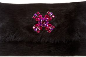Want it Wednesday: Oscar de la Renta Dyed Rabbit Fur Clutch