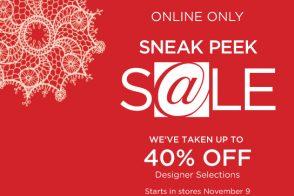 Saks Sneak Peek Online Sale