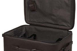 I'd love to travel with the Bottega Veneta leather travel trolley