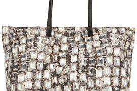 The Lanvin Diamond-Print Canvas Tote sparkles