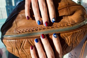 Sunday Funday: Giants Manicure with Alexander Wang Football Clutch