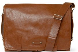 Man Bag Monday: Balenciaga Wide Leather Messenger Bag