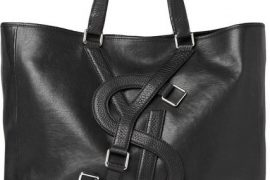 Man Bag Monday: Yves Saint Laurent Logo Strap Leather Tote Bag