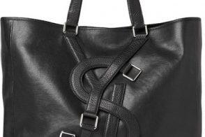 Man Bag Monday: Yves Saint Laurent Logo Strap Leather Tote Bag