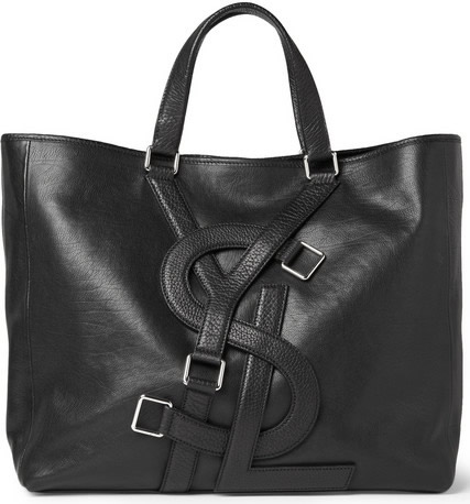yves saint laurent backpacks - Man Bag Monday: Yves Saint Laurent Logo Strap Leather Tote Bag ...