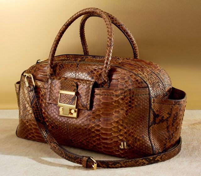 Lanvin JL Small Python Bowling Bag