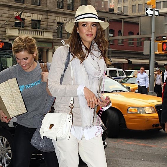 The Many Bags of Jessica Alba