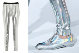 Hussein Chalayan Holographic Pants and Oxfords