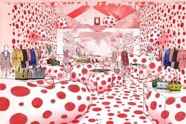 Louis Vuitton Yayoi Kusama pop up shop