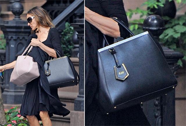 Sarah Jessica Parker carries new Fendi It Bag (8)