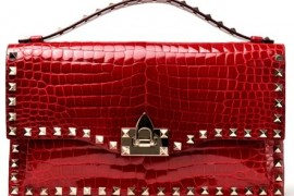 Valentino Crocodile Rockstar Envelope Clutch