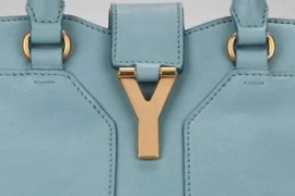 YSL Mini Cabas Chyc in Skye Blue Detail
