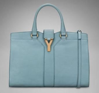 yves saint laurent duffle bag - Lustworthy: YSL Mini Cabas Chyc in Skye Blue - PurseBlog