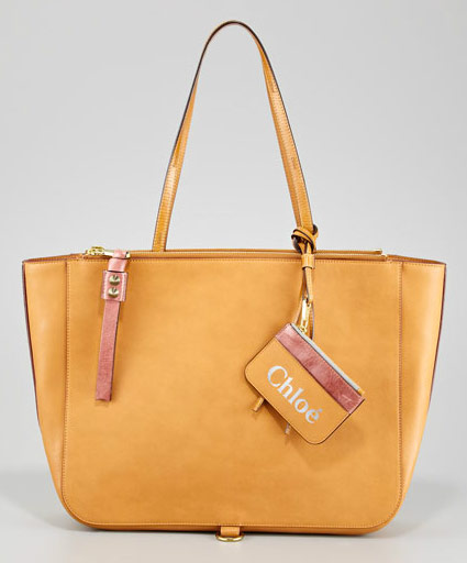 Chloe Faux Leather Tote