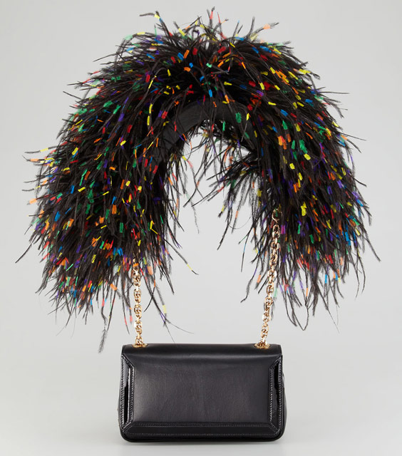 Christian Louboutin Artemis Feathers Bag