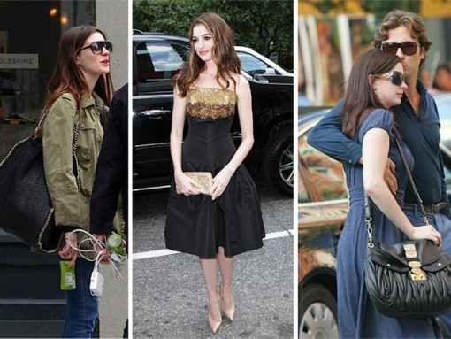 The Many Bags of Anne Hathaway