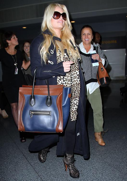 celine mini luggage handbag - The Many Bags of Jessica Simpson - PurseBlog