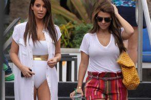Kourtney and Kim Take Miami with Goyard