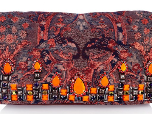 Matthew Williamson Brocade and Suede Clutch (2)