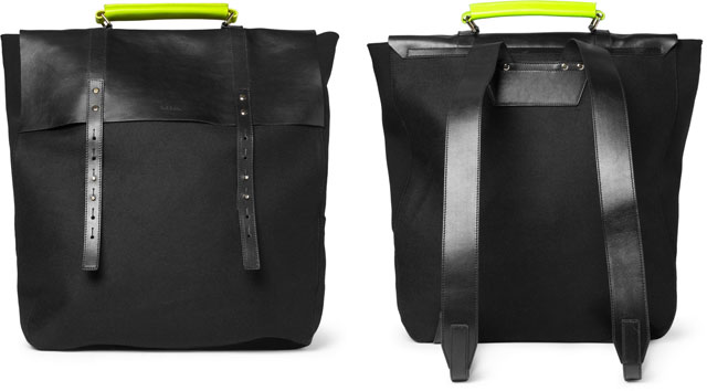 Paul Smith Leather and Felt Backpack